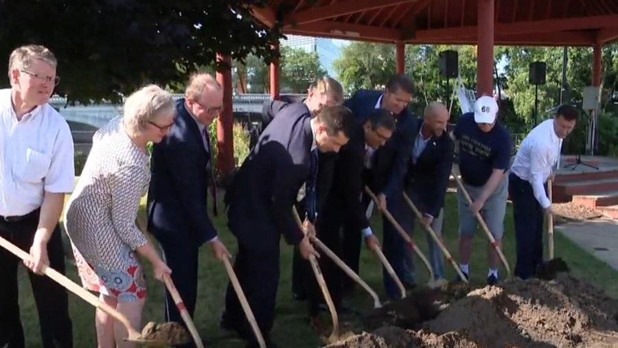 Notre Dame and South Bend break ground on hydro-electric plant